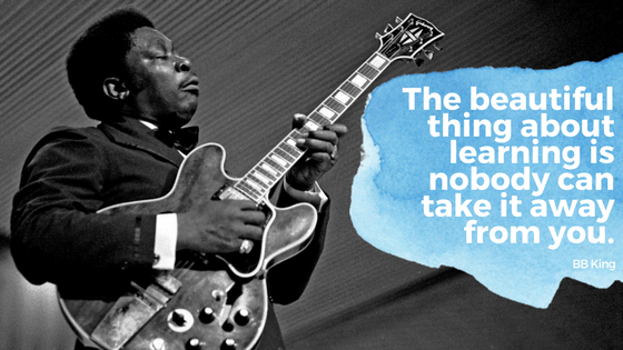 BB King learning quote