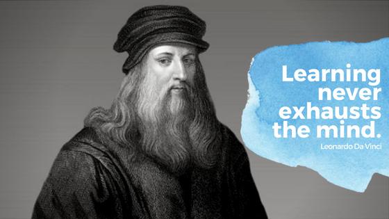 Leonardo Da Vinci learning