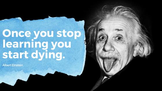 Einstein quote learning