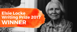 Elsie Locke Writing Prize 2017 winner